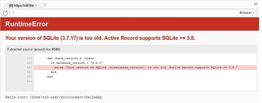 SQLiteエラー